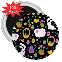 Cute Easter pattern 3  Magnets (100 pack)