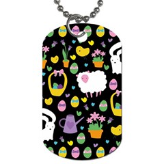 Cute Easter pattern Dog Tag (One Side)