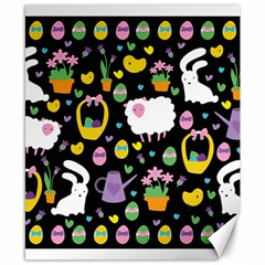 Cute Easter pattern Canvas 8  x 10