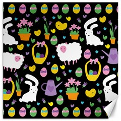 Cute Easter pattern Canvas 16  x 16