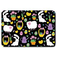 Cute Easter pattern Large Doormat