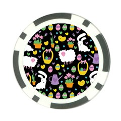 Cute Easter pattern Poker Chip Card Guard (10 pack)