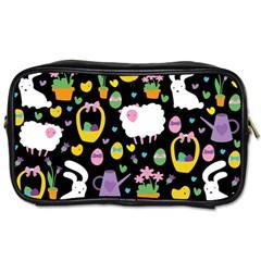 Cute Easter pattern Toiletries Bags
