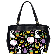 Cute Easter pattern Office Handbags (2 Sides)