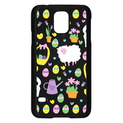 Cute Easter pattern Samsung Galaxy S5 Case (Black)