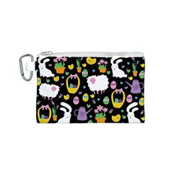 Cute Easter pattern Canvas Cosmetic Bag (S)