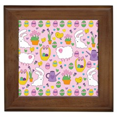Cute Easter pattern Framed Tiles