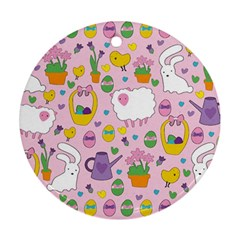 Cute Easter pattern Ornament (Round)