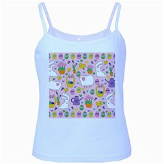 Cute Easter pattern Baby Blue Spaghetti Tank