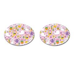 Cute Easter pattern Cufflinks (Oval)
