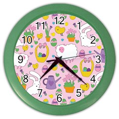 Cute Easter pattern Color Wall Clocks