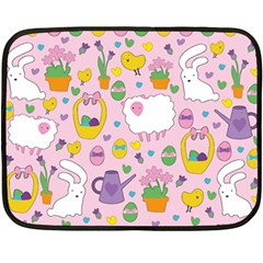 Cute Easter pattern Double Sided Fleece Blanket (Mini)