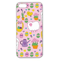 Cute Easter pattern Apple Seamless iPhone 5 Case (Clear)