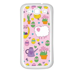 Cute Easter pattern Samsung Galaxy S3 Back Case (White)