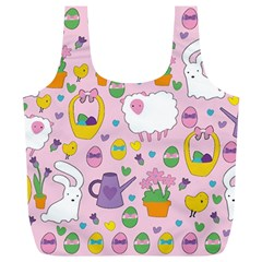 Cute Easter pattern Full Print Recycle Bags (L)