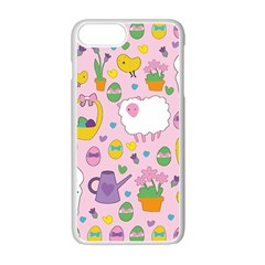 Cute Easter Pattern Apple Iphone 7 Plus White Seamless Case