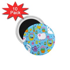 Cute Easter pattern 1.75  Magnets (10 pack)