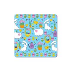 Cute Easter pattern Square Magnet