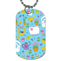 Cute Easter pattern Dog Tag (Two Sides)
