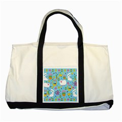 Cute Easter pattern Two Tone Tote Bag
