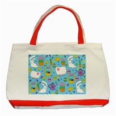 Cute Easter pattern Classic Tote Bag (Red)
