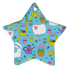 Cute Easter pattern Star Ornament (Two Sides)