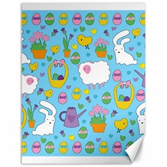 Cute Easter pattern Canvas 12  x 16
