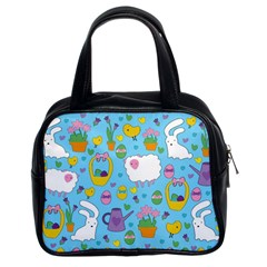 Cute Easter pattern Classic Handbags (2 Sides)