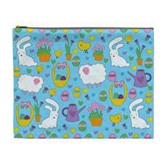 Cute Easter pattern Cosmetic Bag (XL)
