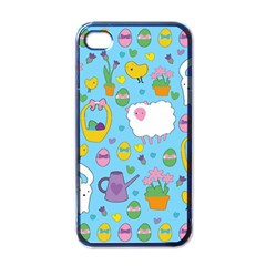 Cute Easter pattern Apple iPhone 4 Case (Black)