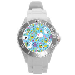 Cute Easter pattern Round Plastic Sport Watch (L)