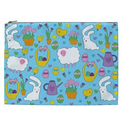 Cute Easter pattern Cosmetic Bag (XXL)