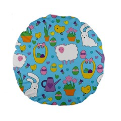 Cute Easter pattern Standard 15  Premium Round Cushions