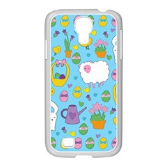 Cute Easter pattern Samsung GALAXY S4 I9500/ I9505 Case (White)