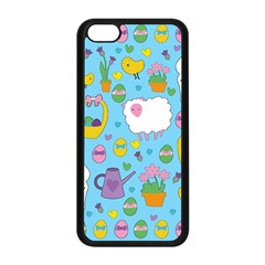 Cute Easter pattern Apple iPhone 5C Seamless Case (Black)