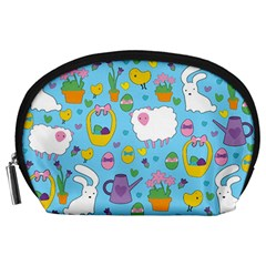 Cute Easter pattern Accessory Pouches (Large)
