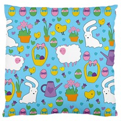 Cute Easter pattern Large Flano Cushion Case (One Side)