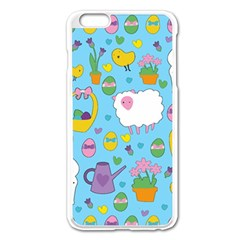 Cute Easter pattern Apple iPhone 6 Plus/6S Plus Enamel White Case