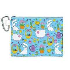 Cute Easter pattern Canvas Cosmetic Bag (XL)
