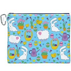 Cute Easter pattern Canvas Cosmetic Bag (XXXL)