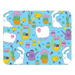 Cute Easter pattern Double Sided Flano Blanket (Large)