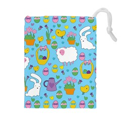 Cute Easter pattern Drawstring Pouches (Extra Large)