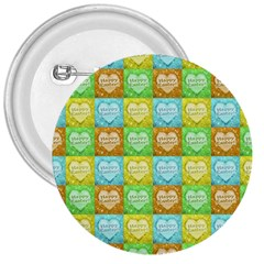 Colorful Happy Easter Theme Pattern 3  Buttons