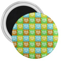 Colorful Happy Easter Theme Pattern 3  Magnets