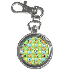 Colorful Happy Easter Theme Pattern Key Chain Watches