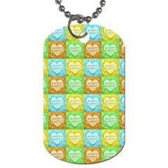 Colorful Happy Easter Theme Pattern Dog Tag (One Side)