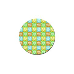 Colorful Happy Easter Theme Pattern Golf Ball Marker (4 pack)