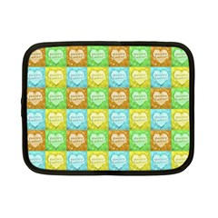 Colorful Happy Easter Theme Pattern Netbook Case (Small)