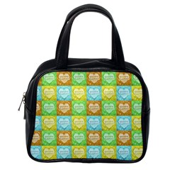 Colorful Happy Easter Theme Pattern Classic Handbags (One Side)