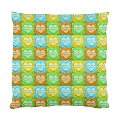 Colorful Happy Easter Theme Pattern Standard Cushion Case (One Side)